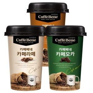 카페베네 컵커피 200ml x 20개/카페라떼/카페모카