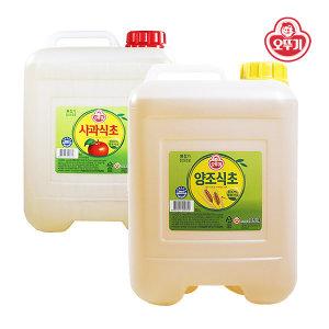 오뚜기 양조식초 말통 15L/ 대용량 사과 현미 화이트