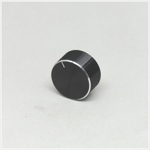 25x13mm 검은색 알루미늄 오디오 볼륨 노브
