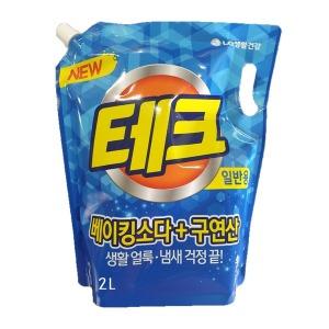테크 천연베이킹소다 + 구연산 액체세제 일반 리필 2L