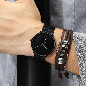 남자 손목시계 패션 커플 남성 메탈 시계 명품 여성