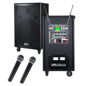 EG-410 앰프스피커 400W 무선 핸드마이크 2개