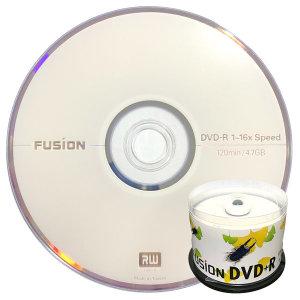 퓨전 16배속 4.7GB DVD+R 데이터용 50케이크박스 포장