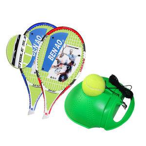 셀프 테니스라켓 테니스 리턴볼 set 레드블루라켓 2개