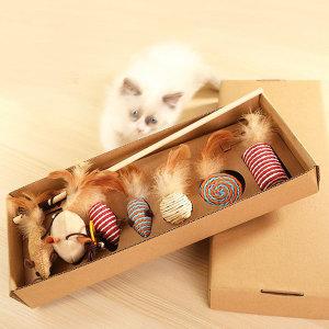 고양이 낚시대 스크레처 7종 세트 장난감