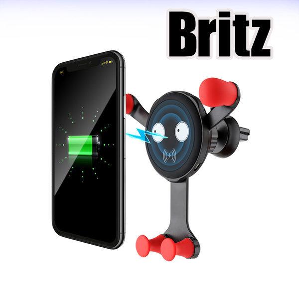 BZ-CQ1 차량용 휴대폰 고속 무선충전 거치대 / 블루
