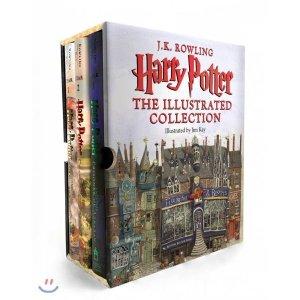 Harry Potter : The Illustrated Collection (미국판) : 해리 포터 일러스트판 3종 박스 세트 : Sorce...