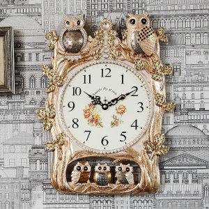 패밀리 부엉이 벽시계 G 벽시계 벽걸이시계 인테리어
