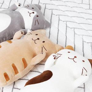 고양이 인형 낮잠 베개 안고자는 쿠션 애착인형