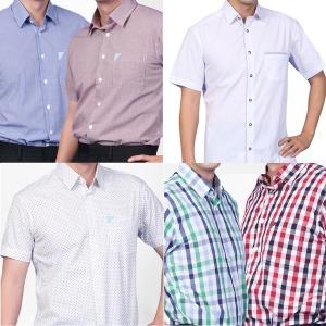 반팔 셔츠 모음 남성 데일리 남방 체크 줄무늬 무지