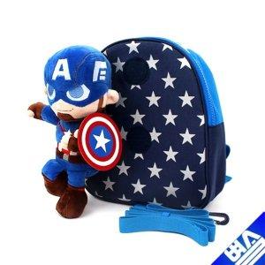 마블 캡틴 아메리카 남아 아기 배낭 미아방지 가방