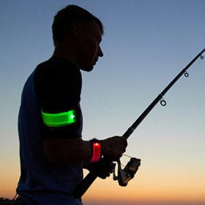 LED 스포츠팔찌 라이딩라이트 암 팔목 발목 밴드/그린