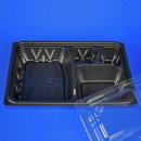 반찬샐러드일회용포장용기 KS-0312-6(4칸)검정/400세트