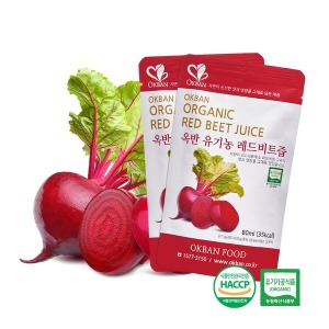 옥반식품 유기농 레드비트즙 90팩x80ml