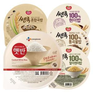 햇반 210g 24개 / 쎈쿡 발아현미밥 / 즉석밥 / 컵반