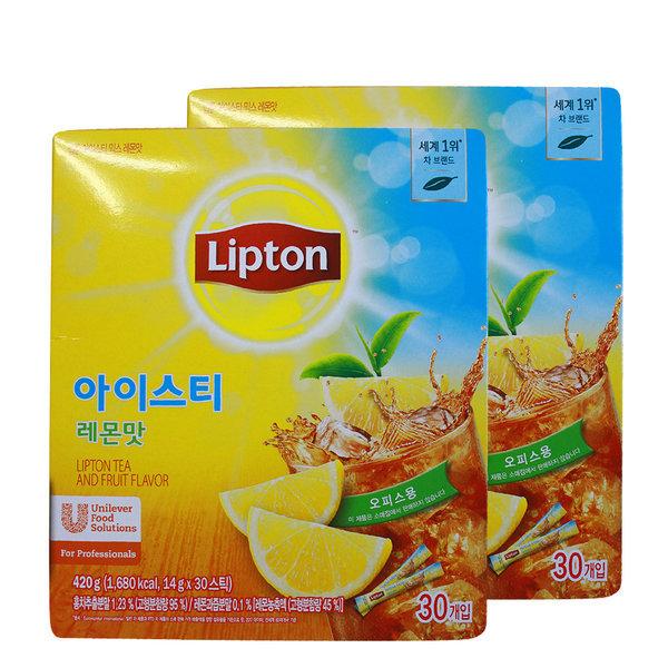 립톤 아이스티스틱30t레몬맛x2개