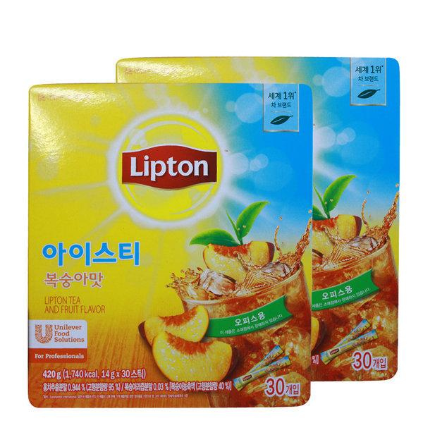 립톤 아이스티스틱30t복숭아맛x2개