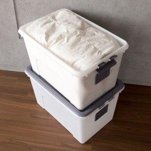 대용량 스퀘어 리빙박스 1+1 / 수납정리함 옷정리함