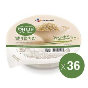 MLC CJ제일제당 햇반 발아현미밥 210g 36개