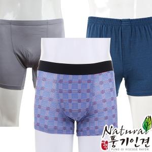 인견 남성 사각팬티 남자 속옷 트렁크 100% 풍기인견