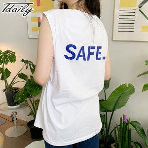 니까 남녀공용 세이프 박스나시 민소매 티셔츠 나시