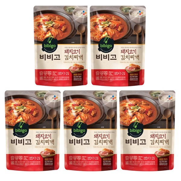 비비고 돼지고기 김치찌개 460G 5개