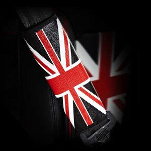 킨톤 안전벨트 커버 차량용 유니언잭  블랙 1+1