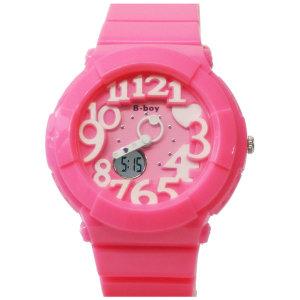 비보이1006 핑크 아동 어린이 손목시계 스포츠 방수