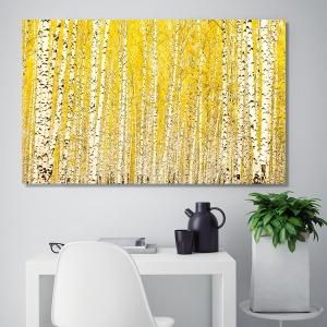 풍수 금전운 황금 자작나무 인테리어 액자 캔버스
