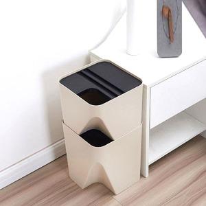 가정용 재활용 분리수거함 3단 스마트 정리함 10L 15L