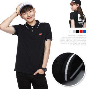 0133_ 플라이 배색 라인 피케 반팔 티셔츠(G16MMKT401)