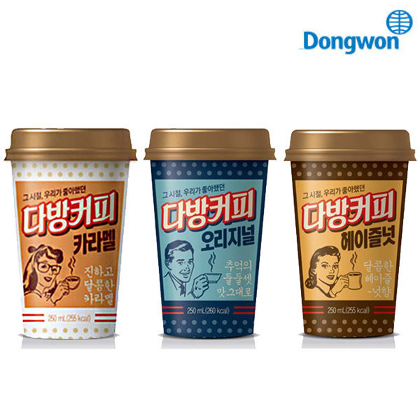동원 소와나무 다방커피250mlx24컵/컵커피/바리스타