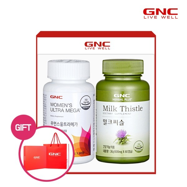 GNC  여성건강 세트(우먼스 멀티비타민+밀크씨슬)