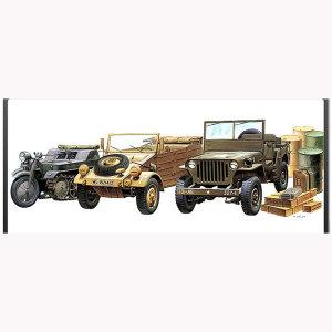 프라모델 1/72 지상장비세트 2차세계대전 경차량