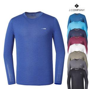 아쿠아스페이스 남성 긴팔 기능성 라운드 티셔츠