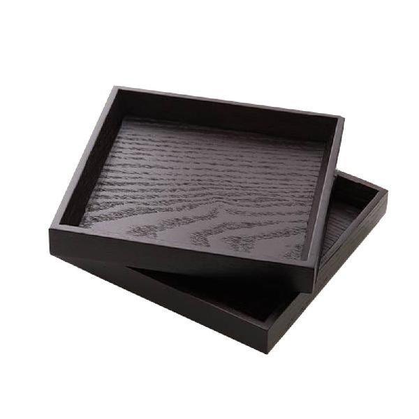 옻칠 원목 트레이(옻칠 정사각쟁반) 14 x 14 과자쟁반