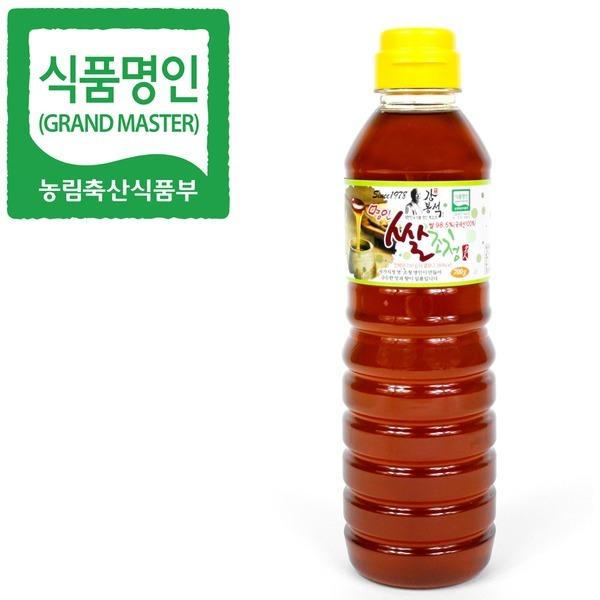 식품명인 강봉석 쌀조청 700g/조청 물엿 올리고당 꿀