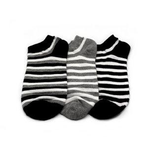 링글 줄무늬 발목 양말 남녀고용
