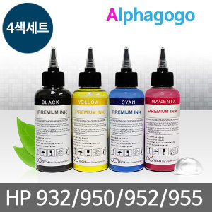 HP 932/950/952/955 리필잉크/4색SET-100ml(BK/C/M/Y)