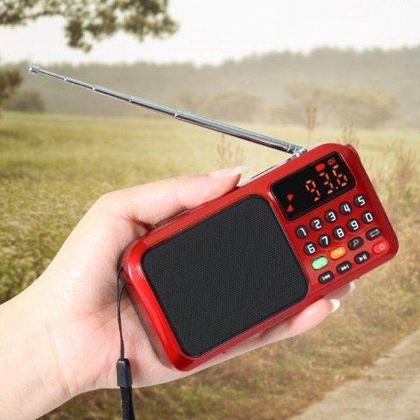 어르신 효자 등산 데이터없이 충전식 휴대용 라디오
