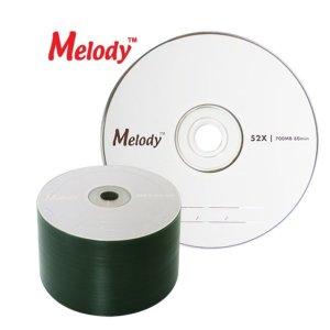 (멜로디)CD-R 700M 52X 50P BULK CD 공디스크 블루레