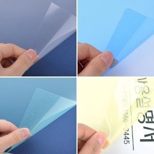 제본표지 A4 비닐커버 사선 반투명 투명 교재제본 대