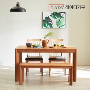 (17%쿠폰증정)더휴 원목 4인 6인 식탁세트