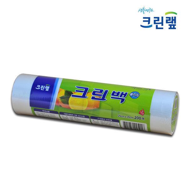 크린랩 롤백 25 x 35 200매 위생백 비닐백