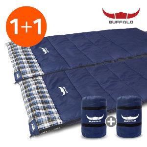 버팔로 침낭 캐빈2 침낭 1+1/사계절 낚시 캠핑용품
