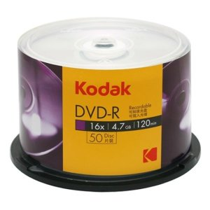 (밀알) KODAK DVD-R 16배속 4.7GB 50장 케익