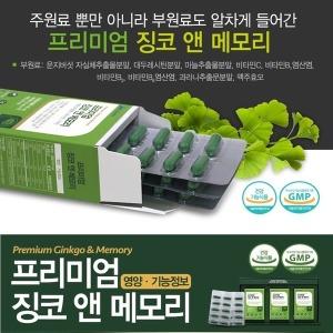 JW중외제약 징코앤메모리 500mgx90정 기억력 개선도움