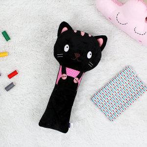 유아 어린이 애착 안전벨트 인형 네오(검은고양이)
