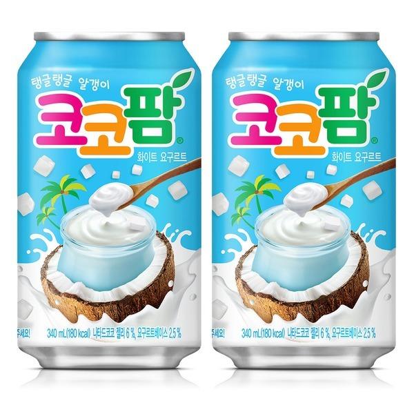 코코팜 화이트 요구르트 340ml x 24캔 /음료수