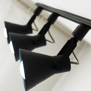 나팔 레일 조명 1M 3구 세트 블랙/화이트